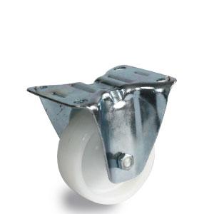 Rolle aus Polyamid Rad Durchmesser 80 mm, Radaufnahme, Bockgehäuse verzinkt