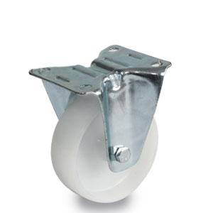 Polyamid Bockrolle, verzinkt, Raddurchmesser 100 mm