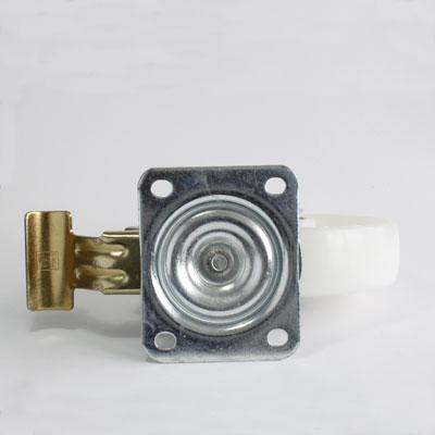 Lenkrolle Polyamid mit Feststeller, Raddurchmesser 200 mm, Gehäuse mit 4-Loch-Platte, verzinkt