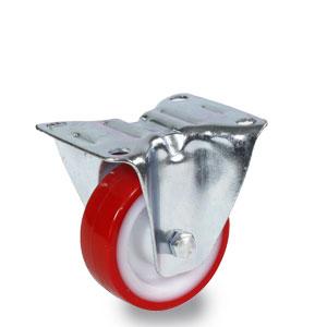 80 mm Rolle mit Bockgehäuse und Polyamid-Polyurethan-Rad