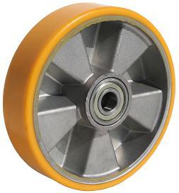Polyurethan Schwerlast Vorderrad für Hubwagen, Raddurchmesser 200 mm