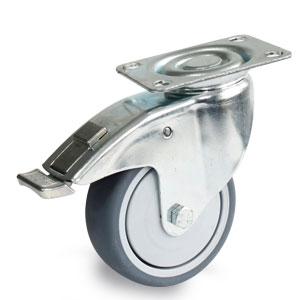 Apparate Bremsrolle mit Duchmesser 100mm und verzinktem Gehäuse