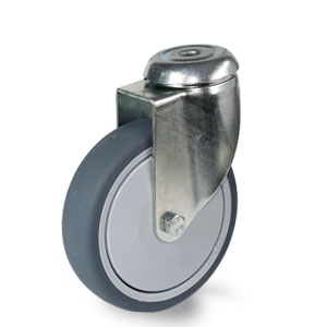 Lenkrolle für Apparate mit verzinkter Rückenlochgabel, Durchmesser 125 mm