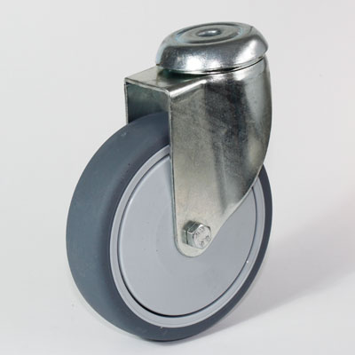 Apparate Lenkrolle, Rückenloch-Befestigung, Gabel verzinkt, Durchmesser 125 mm