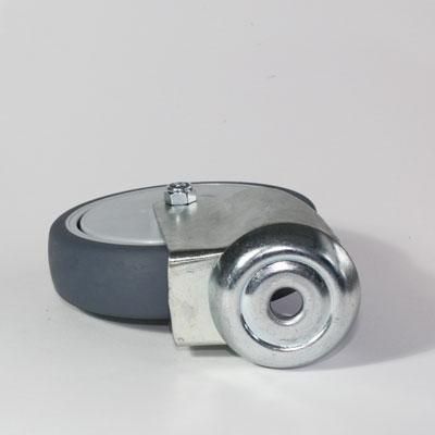 Apparate Rückenloch Lenkrolle, verzinkte Gabel, Rad 125 mm Durchmesser