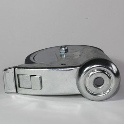 1-Loch Apparate Bremsrolle, verzinkt, Rad 125 mm