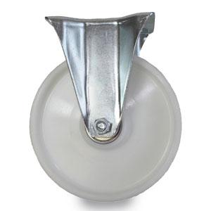 Bockrolle, verzinkt mit Schwerlastrad aus Polyamid, Durchmesser 200 mm