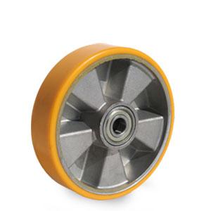 Ersatz Schwerlast Rad für Hubwagen, Polyurethan Belag, Raddurchmesser 200 mm