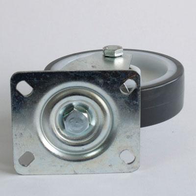 Lenkrolle mit 4 Loch Platte, Durchmesser 125 mm, Rad Polyamid-Polyurethan