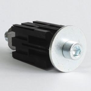 Befestigung für Rohre 31-35mm 4-Eckig