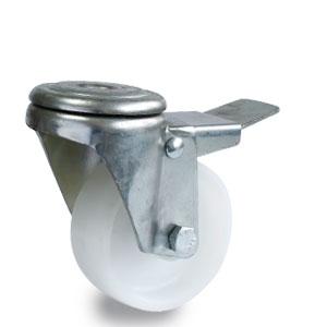 Verzinkte Rückenloch Rolle aus Polyamid mit Rad Durchmesser 80 mm